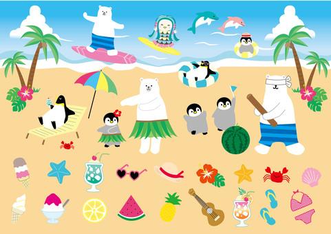 Summer material beach