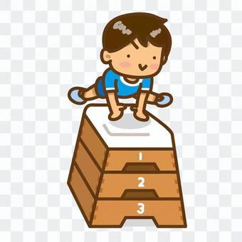 飛行跳箱子的男孩