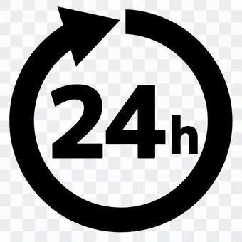 交流24小時圖標時間