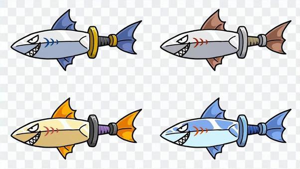 劍形魚字符