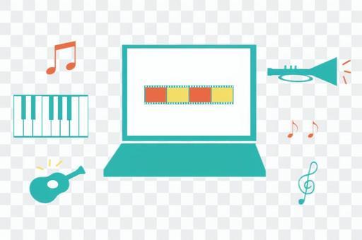 選擇視頻音樂的圖像插圖