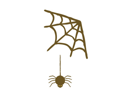 Simple hand-painted spider web and spider