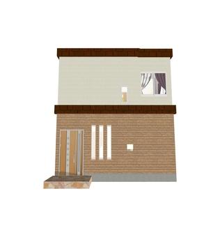 4LDK Floor plan ④ (3-Dimensional drawing / exterior ①)