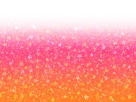 滿天星斗★壁紙粉紅橙