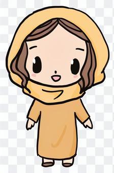 聖經人物(女性,馬耳他)微笑