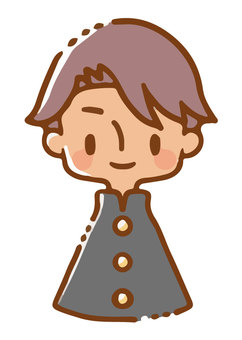 Image of a boy wearing a school uniform