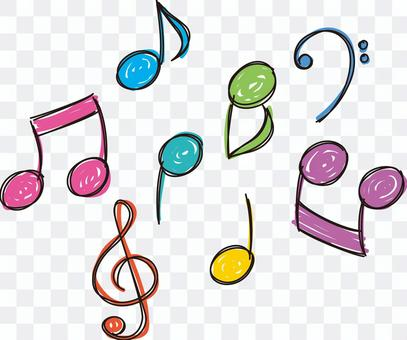 Musical note set 01 - color