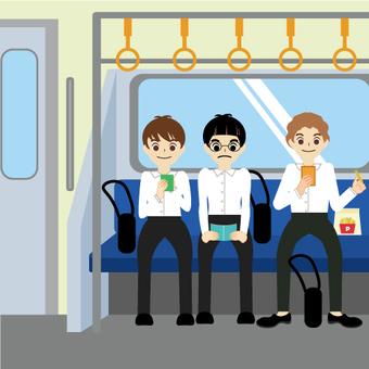電車(学生・男子)