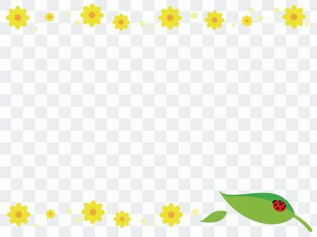 瓢蟲和花裝飾框架
