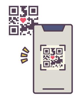 讀取二維碼的智能手機