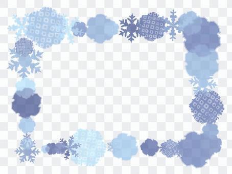 Snow ring frame (blue)