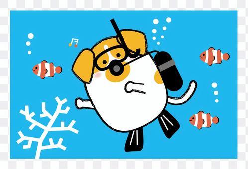 Dog_scuba diving