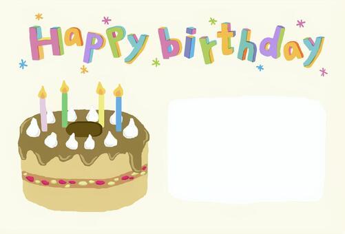 Handwritten birthday card 2