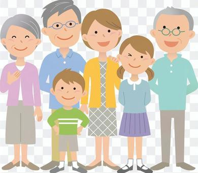 80708. Third generation family 3, whole body