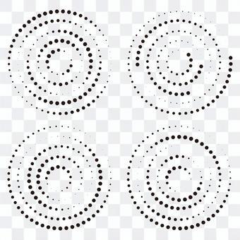 單調圓圈隨機點圖標