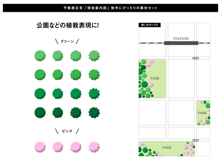 Planting parts that can be used for local guide maps