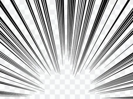 單色卡通表達日出閃光