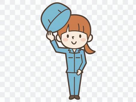 工作戴女士帽子
