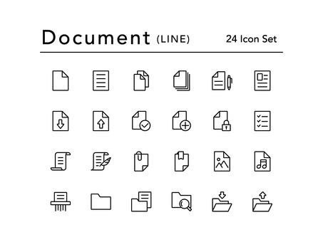 Icon set (documents / lines)