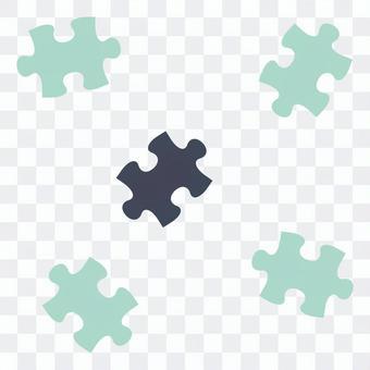 散らばったパズルピース03