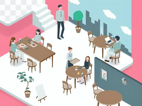 Isometric_Business 02_Cafe