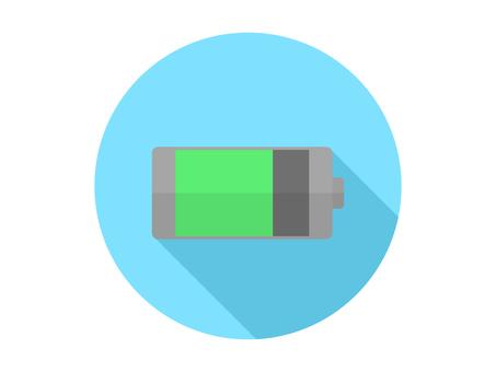 Charging flat design icon