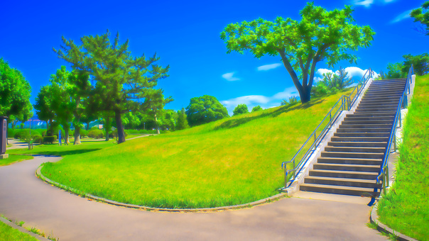 Park stairs