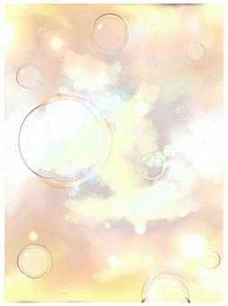 肥皂泡雲天空背景
