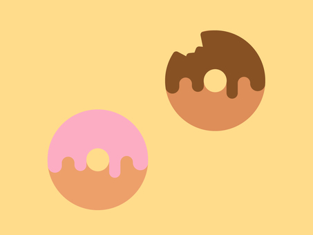 Simple and cute donut illustration