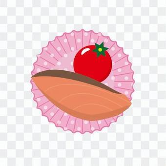 鮭魚和櫻桃番茄