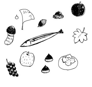 秋の食べ物やモノ