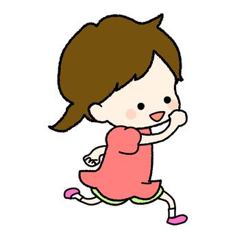 手寫的跑步女孩流行音樂