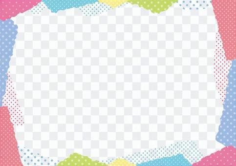 彩色圓點框2