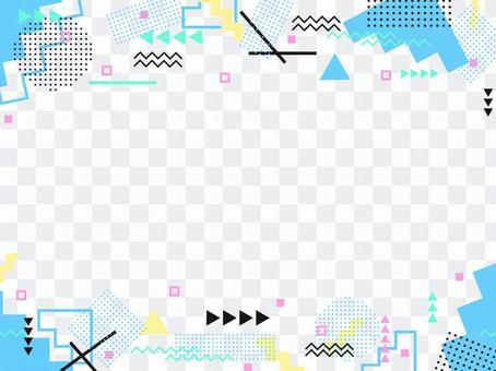 抽像圖案框架