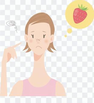 女_皮膚問題_草莓鼻子