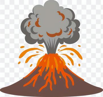 自然災害爆發火山爆發