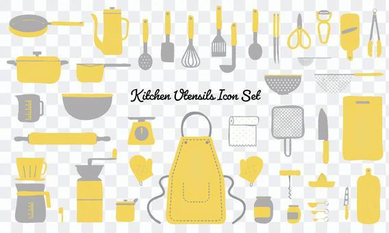 手寫的廚房用具插圖集