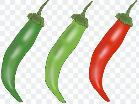 辣椒3種顏色