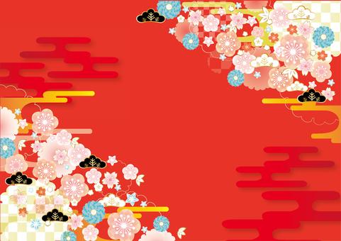 Vivid Japanese style background frame
