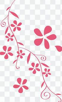 Floral pattern ivy style