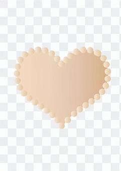心臟圖標(淺褐色)