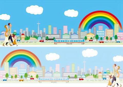 鎮家庭家庭彩虹街家庭