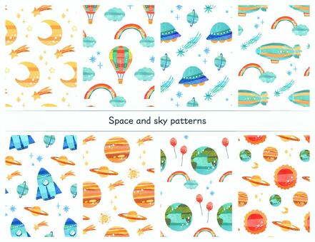 Universe and sky pattern