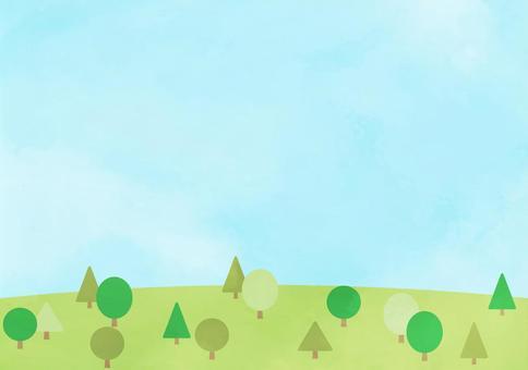 水彩 山 背景 壁紙