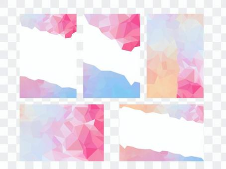 Message card polygon background 001