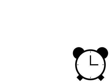 Alarm clock icon: white: 4 scales