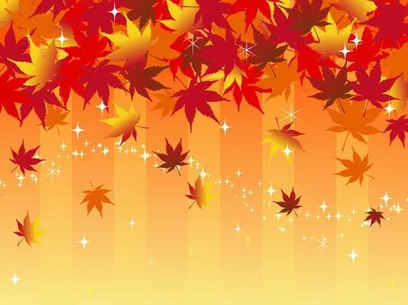 日本風格材料秋天的樹葉背景