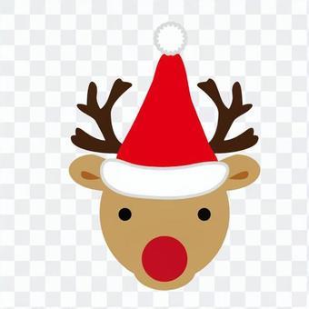 Xmas - reindeer face 02