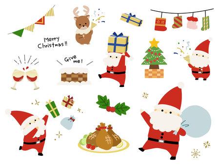 크리스마스 산타 파티 다양한 세트