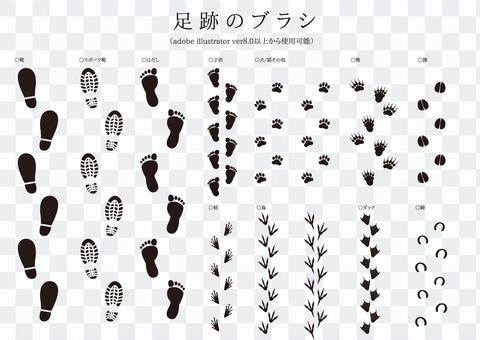Brush series Footprints